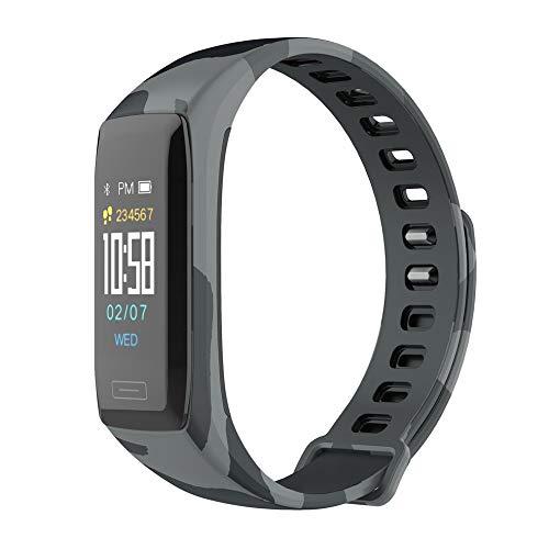 Pulsera inteligente Monitor de ritmo cardíaco Pulsera Pulsera multideportiva Reloj inteligente a prueba de agua LCD a color