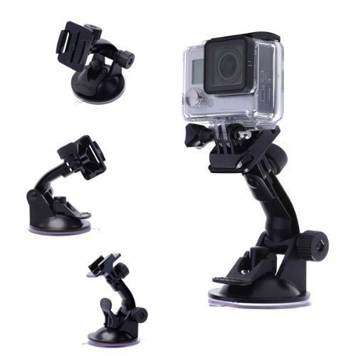 Smatree Suction Cup Mount Compatible for GoPro Max/ GoPro Hero 8/7/6/5/4/3+/3/Session/GOPRO HERO 2018/DJI OSMO Action Camera