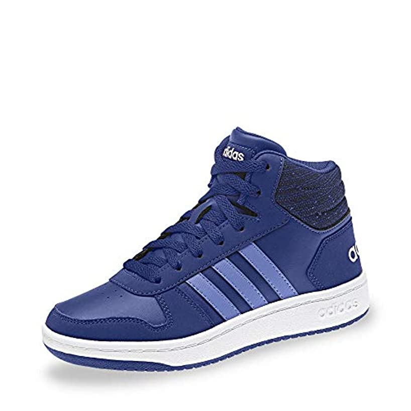 adidas Kids Boots Shoes Hoops Mid 2 Sporty Sneaker Girls Boys Fashion New B75748