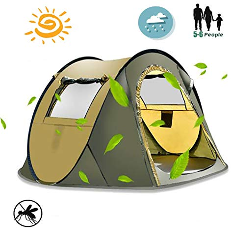 Large Pop up Beach Tent, 4-5 Person Hiking Tent, Water Resistant, With Air Vents,Outdoor Instant Automatic Beach Shelter Portable Sun Shelter Anti-UV Tent,Easy Set up Portable Sun Shade,1