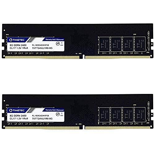Timetec Hynix IC (16GB(8GB x2) DDR4 2400MHz PC4-19200 288 Pin UDIMM Desktop PC Arbeitsspeicher (16GB(8GB x2)(Single Rank))