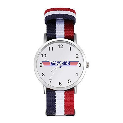 Top Gun Maverick Text - Reloj trenzado con escala