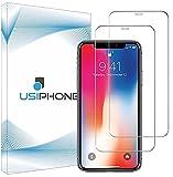 UsiPhone Lot de 2 Verre Trempé Compatible avec Iphone X/XS - Vitre Iphone 11 Pro - Film Ecran en Verre Trempe 9h - Protection Iphone X/XS - Protege Écran Iphone 11 Pro (5.8') Ecran Incassable