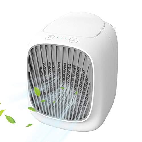 Aire acondicionado personal, mini ventilador de refrigeración de 3 velocidades de viento, multifuncional USB ventilador de escritorio para el hogar, dormitorio, oficina