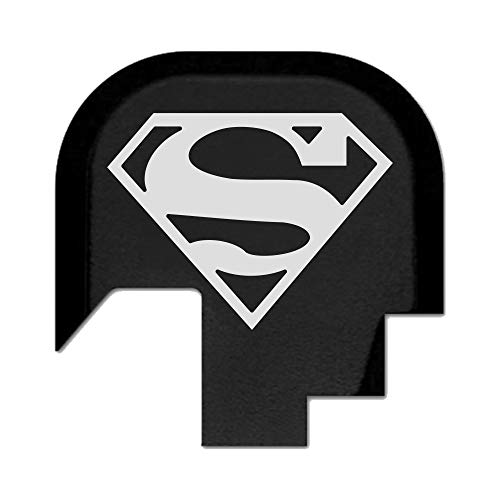 BASTION Laser Engraved Rear Cover Slide Back Plate for Smith & Wesson M&P 9/40 Shield SUBCOMPACT ONLY - Superman