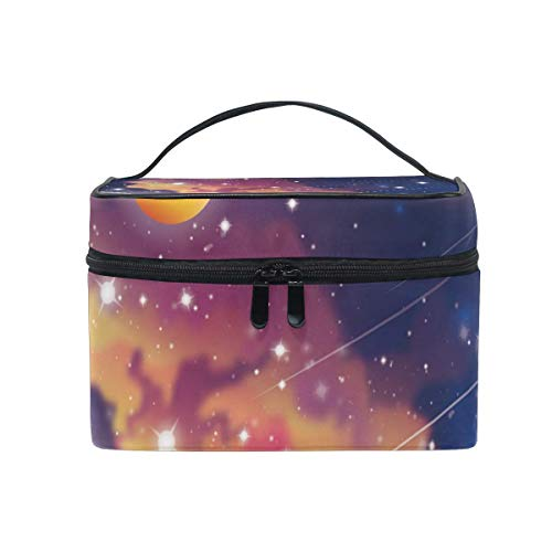 Space Stars Planets Cosmetic Bag Toiletry Travel Makeup Case Handle Pouch Multi-Function Organizer for Women-X77