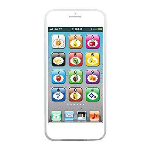 Juguete de teléfono electrónico simulado, juguete de teléfono de bebé, juego de música, teléfono móvil, aprendizaje de inglés, juguetes educativos, juego de bebé, regalo para niños, bebé