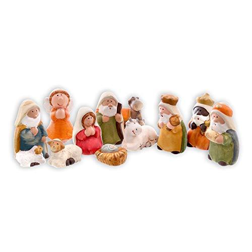 Olsen Natividad - Tradicional Belén - 11 Piezas - Figuras de Cerámica