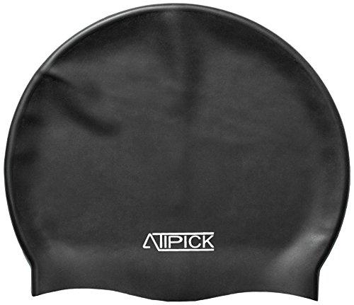 Atipick–Berretto natacion Silicone in Borsa, Nero
