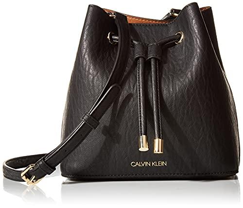 Calvin Klein Gabrianna Novelty Mini Bucket Crossbody, Black