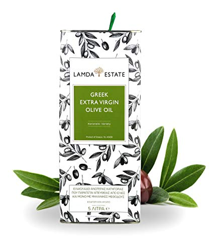 Premium Olivenöl 5 liter Kaltgepresst aus Griechenland | mild, fruchtig | zum Kochen & Braten | aus handerlesenen Koroneiki-Oliven