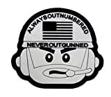 Always Outnumbered Never Outgunned Tactical Spirit Outdoor Sports Waterproof Legion 3D PVC Patch