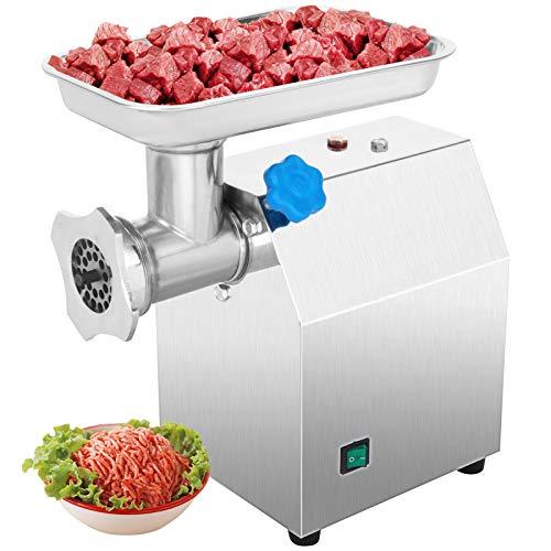 VEVOR 850W 122kg all'ora Tritacarne Elettrico In Acciaio Inox, 190 r/min Macchina Carne Elettrico Modello, 2 Piastra di Smerigliatura, Meat Grinder Per Casa o Uso Industriale