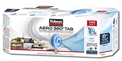 Rubson - Lote de recargas neutras Aero 360 (6 unidades, para deshumidificador)
