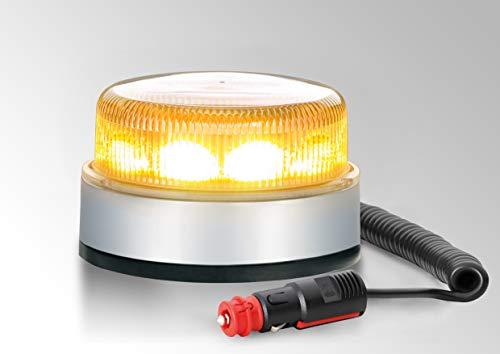 HELLA 2XD 012 980-021 Blitz-Kennleuchte - K-LED Blizzard - LED - 12V/24V - Lichtscheibenfarbe: transparent - LED-Lichtfarbe: gelb - Magnetbefestigung - Kabel: 600mm - Menge: 1