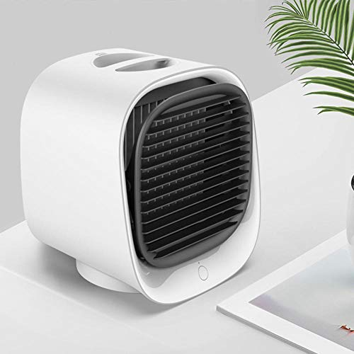 Ventilateur De Bureau Bureau USB Petit Ventilateur De Table De Bureau Personnelle avec Solide Ventilateur De Vent Ventilateur Portable pour Chambre De Bureau-Blanc