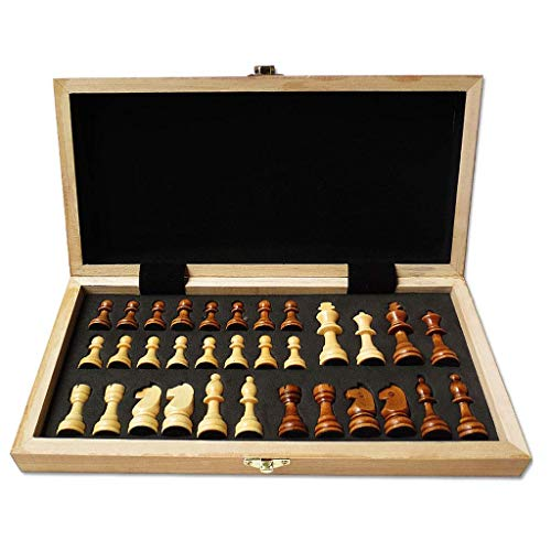 YLJYJ Ajedrez, Tablero de ajedrez Juego de ajedrez de Madera con Almacenamiento Interno Juego de ajedrez Piezas de ajedrez Plegables 29/39 cm Tablero de ajedrez Juego de ajedrez Gi (Juego de ajedrez)