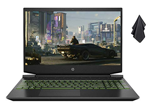 2021 New HP Pavilion 15.6' FHD Gaming Laptop, AMD 6-Core...