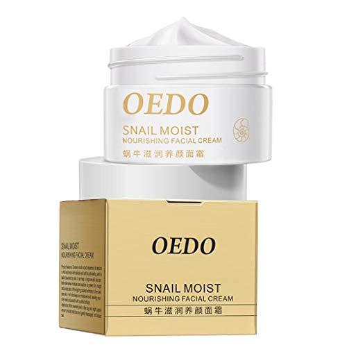 perfeclan Crema Hidratante de Caracol para Mujer Crema de Esencia Blanqueadora Belleza Cuidado de La Piel Reafirmante