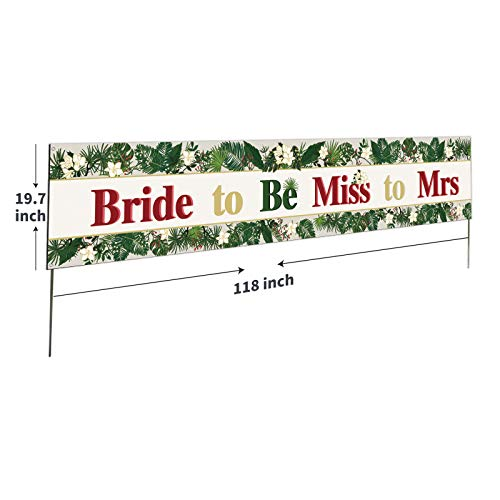 Large Bride to Be Miss to Mrs Banner,Bride Shower Party Sign,Wedding Engagement Wall Deoration, Flower Marriage Photo Props,Proposal/Wedding Shower Welcome Sign