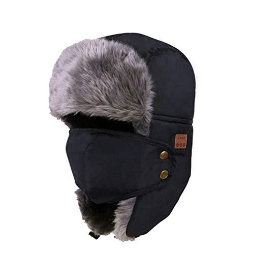 Intelligente Bluetooth muts, draadloze, zachte en warme muts, hoofdtelefoon, microfoon, bluetooth-muts voor outdoorsport, hardlopen, skiën. blue