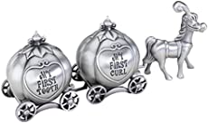 "Lillian Rose Keepsake Pewter Tooth and Curl Box, Fairytale Coach, 2\"" x 5\\"""