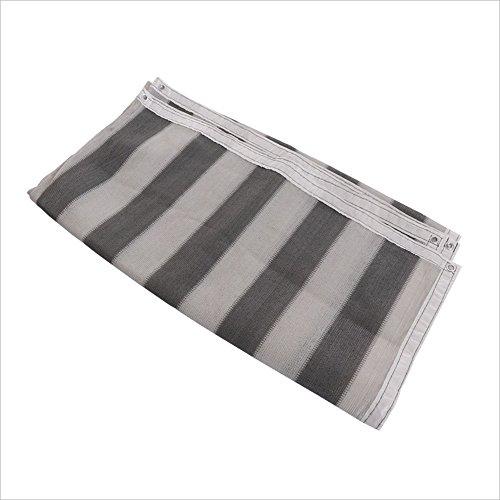 Zaixi 3-pin ombre net gris blanc isolation balcon écran solaire net épaississement ombre ombre net Grande dimension (taille : 2x4m)