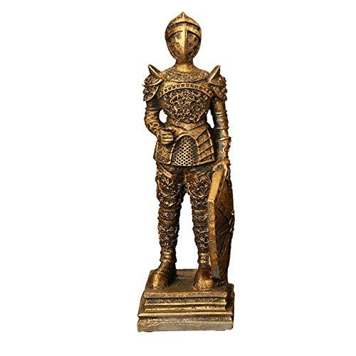 tuin buiten beelden ontwerp kunst Europese Vintage Romeinse soldaat karakter beeldje huis sculpturen ambachten