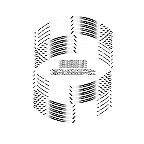 huohua Nuevo Neumático de motocicleta de alta calidad pegatinas reflectantes de las rayas de ruedas interiores calcomanías de decoración para Honda CBR600RR CBR 600 RR (Color : White)