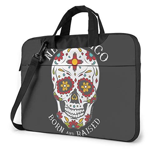 15.6″Durable Hombro Mensajero Bolsa maletín PC Calavera de azúcar de Nuevo México Moda Impermeable Ordenador Portátil/portátil/Tablets