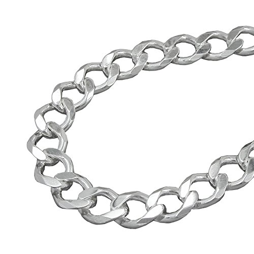 Masculine Mens Stainless Steel Black Large Curb Chain Bracelet COOLSTEELANDBEYOND MB-581A