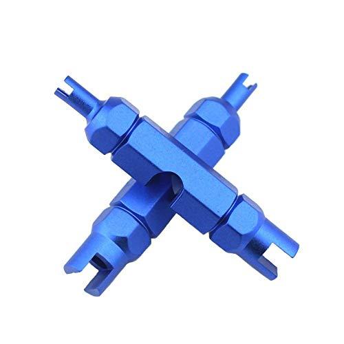 KOSTOO herramienta 3 en 1 para quitar núcleo de válvula, herramienta de reparación para neumáticos de bicicleta Presta y Schrader sin cámara, ., azul