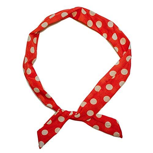 SoulCats® 1 Haarband viele Styles!-Polkadots Rockabilly Schleife Punkte Streifen rot Weiss Marine pink, Modell:rot/weiß gr. Pkt