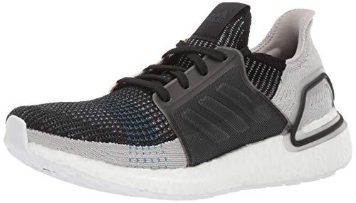 adidas Men's Ultraboost 19 Running Shoe, Black/Grey Six/Shock Cyan, 5 UK