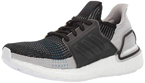adidas Men's Ultraboost 19 Running Shoe, Black/Grey Six/Shock Cyan, 7 UK