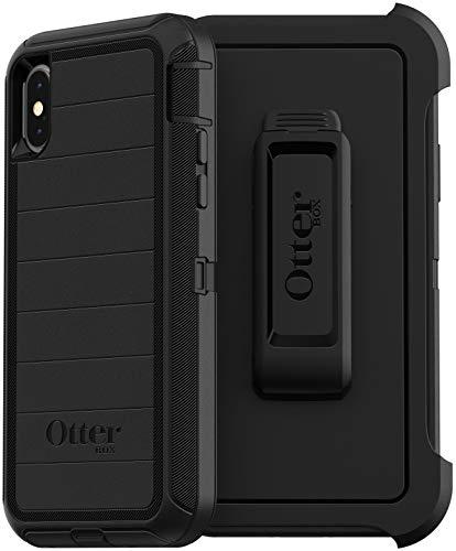 OtterBox Defender Series - Funda resistente y funda para iPhone XS y iPhone X, embalaje no minorista, color negro (con defensa...