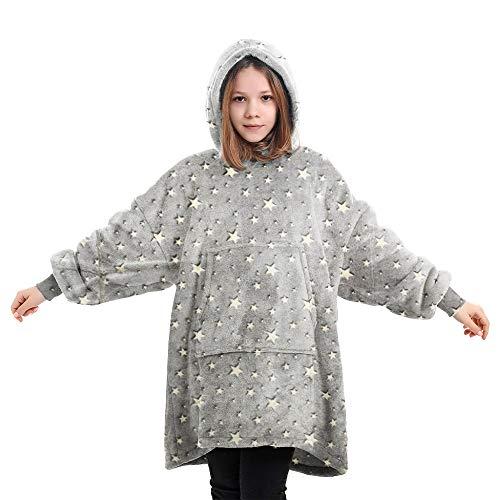 Übergroße Hoodie Sweatshirt, Original Decke Sweatshirt, super weiche gemütliche warme komfortable Riesen-Hoodie, 1 Größe passt alle, Männer, Frauen, Jugendliche (Star-Kid, Einheitsgröße)