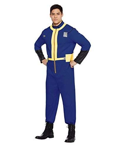 Spirit Halloween Vault 111 Fallout Jumpsuit Kostüm für Erwachsene, offizielles Lizenzprodukt - Blau - Erwachsene Small