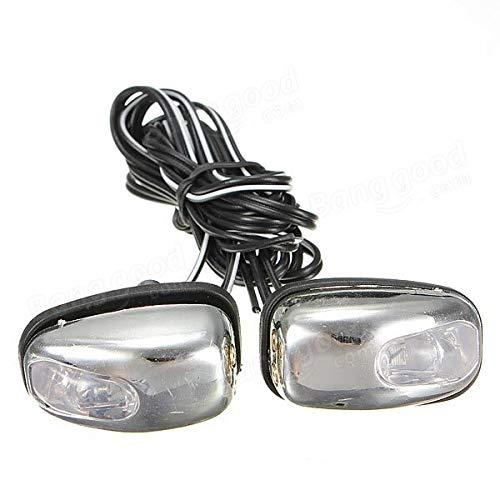 YONGYAO Chrome LED Lampe Lumière Vent Bouclier Jet Gicleur Rondelle Essuie-Glace Yeux-Vert