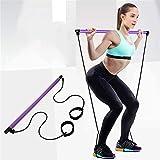 Risefit Yoga Pilates Stick Sport Attrezzature per Il Fitness Yoga per la casa Addome Multifunzionale Torace Espansore Braccio Estrattore Muscolare (Porpora)