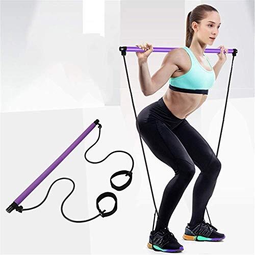 Risefit - Barra de pilates con banda de resistencia portátil para yoga, pilates, yoga, pilates, barra de ejercicio para gimnasio en casa, entrenamiento de culturismo