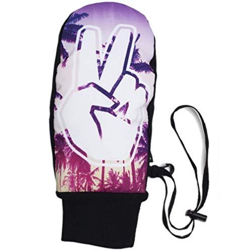 Neff Herren character mitt Handschuhe für spezielle Anlässe, Friedenspalmen, Klein