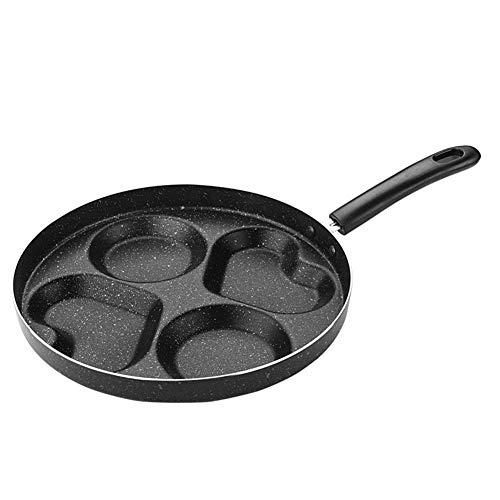 Koken Pan Cake Maker Ham Koken Pan Bakken Hart Vorm Vier Gat Keuken Gereedschap Grill Verdeeld Omelet Koken Ontbijt Niet Stick Pot