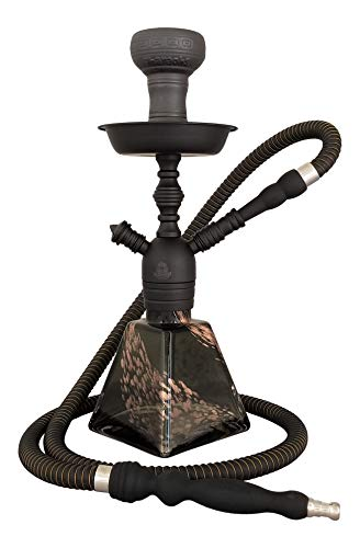 "16"" Pharaoh's Aztec Hookah Set, Cosmic Edition (Black Sand)"