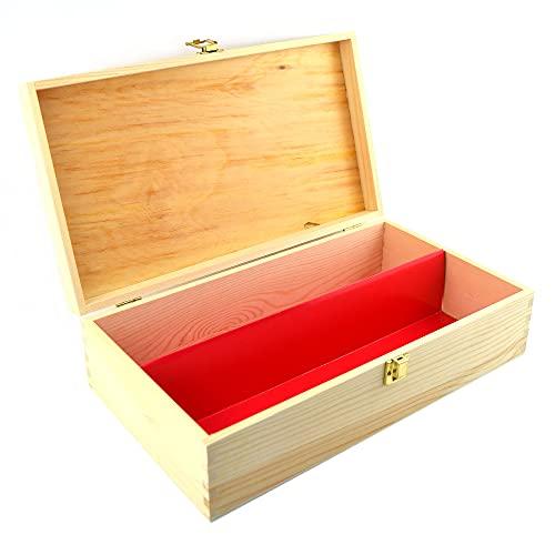 1 caja de vino de madera de pino natural (2 botellas, caja porta botellas, de madera, para botellas, recipiente botellero