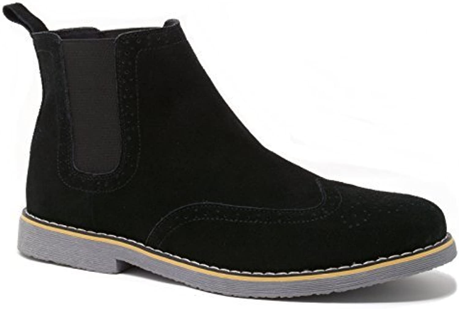 Alpine Swiss Mens Chelsea Boots Genuine Suede Dress Ankle Boots Wingtip shoes