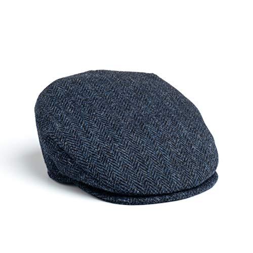 Boina plana de conducción de 100% lana de Hanna Hats