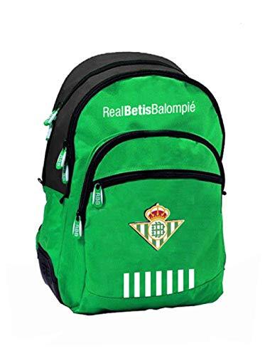 Mochila Real Betis 2018/2019 con con Base Reforzada y Adaptable al Carro. Medidas:32x16x42cms.