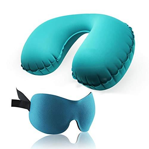 by Alaska Bear Sleep Mask,Travel Kit Inflatable Pillow Sleep Eye Mask Outdoor Portable Travel Supplies Inflatable Pillow Set Earplugs (Color : B)