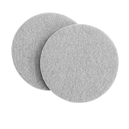 50 piezas almohadillas para pies de muebles almohadillas protectoras de piso autoadhesivas antideslizantes de fieltro protectores de piso de patas de silla gris redondas para proteger el laminado de